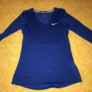 Blue Nike Exercise Shirt